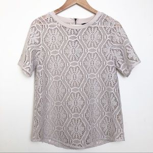 Banana Republic Cream Lace Crochet Top